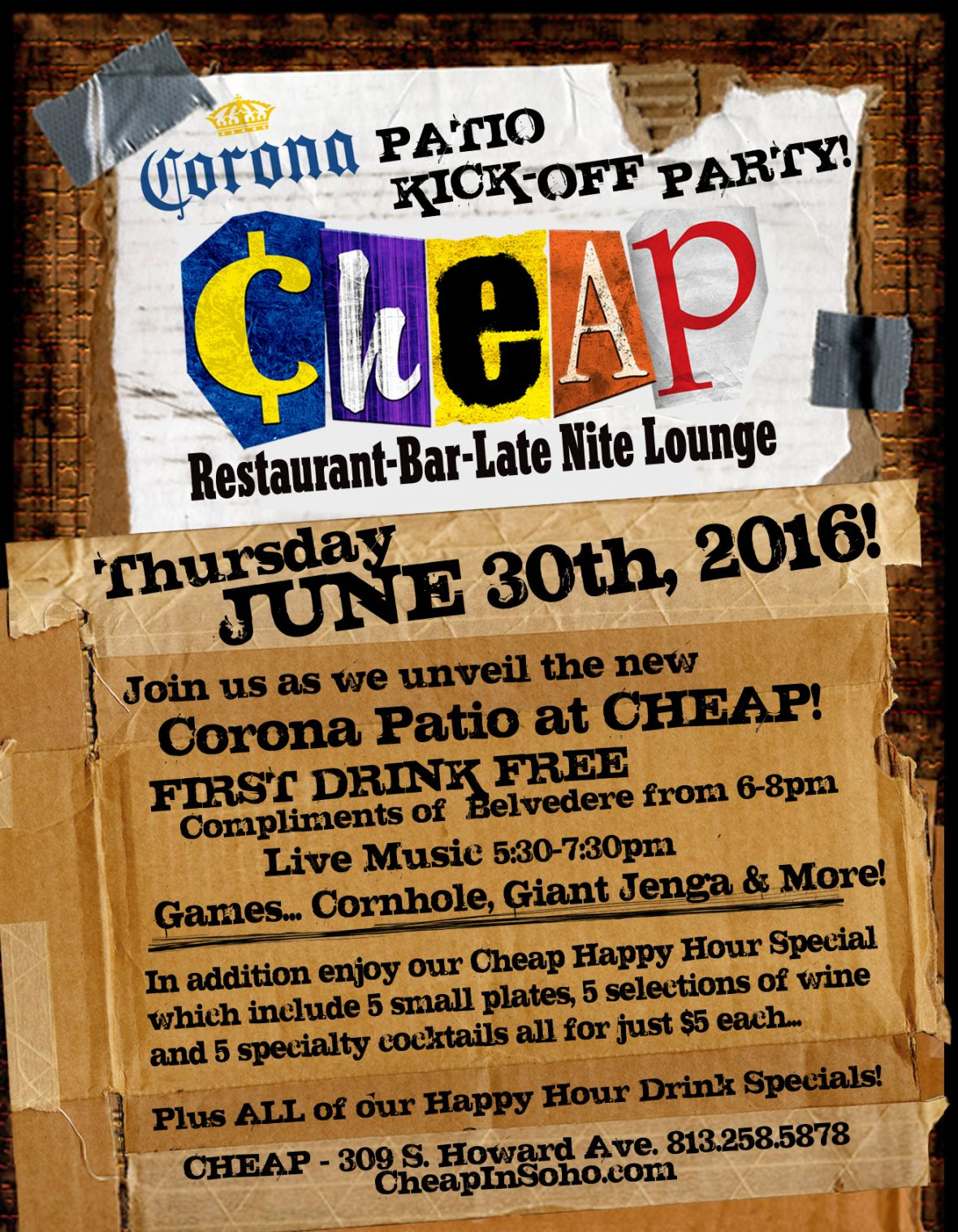 carona patio kickoff